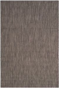 Black, Beige (36621) Courtyard CY-8521 Contemporary / Modern Area Rugs