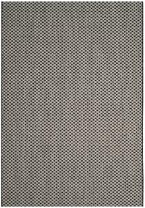 Black, Light Grey (37621) Courtyard CY-8653 Contemporary / Modern Area Rugs
