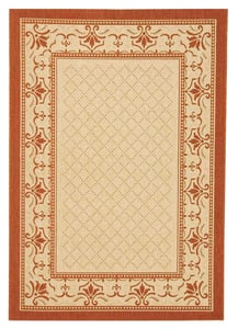 Natural, Terra (3201) Courtyard CY-0901 Country Area Rugs