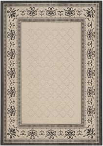 Sand, Black (3901) Courtyard CY-0901 Country Area Rugs