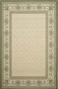 Natural, Olive Courtyard CY-0901 Country Area Rugs