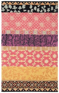Pink, Gold, Purple (K) Rodeo Drive RD-622 Floral / Botanical Area Rugs