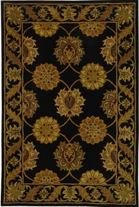 Black, Ivory (A) Heritage HG-314 Traditional / Oriental Area Rugs