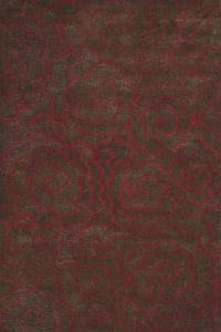 Chocolate, Red (D) Soho I SOH-812 Contemporary / Modern Area Rugs