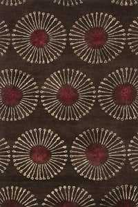Coffee, Brown (B) Soho I SOH-821 Contemporary / Modern Area Rugs