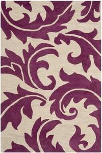 Purple, Beige (B) Soho I SOH-841 Floral / Botanical Area Rugs