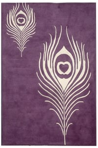 Purple, Ivory (A) Soho I SOH-704 Contemporary / Modern Area Rugs