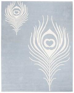 Light Blue, Ivory (B) Soho I SOH-704 Contemporary / Modern Area Rugs