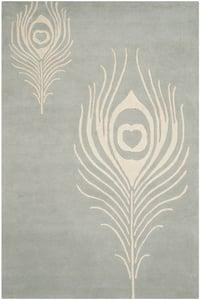 Grey, Ivory (C) Soho I SOH-704 Contemporary / Modern Area Rugs