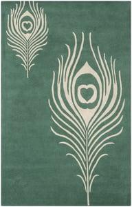 Teal, Ivory (T) Soho I SOH-704 Contemporary / Modern Area Rugs