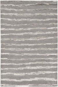 Grey (A) Soho I SOH-519 Striped Area Rugs