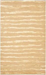 Beige, Gold (B) Soho I SOH-519 Striped Area Rugs