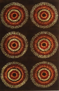 Brown, Gold (B) Soho I SOH-719 Contemporary / Modern Area Rugs