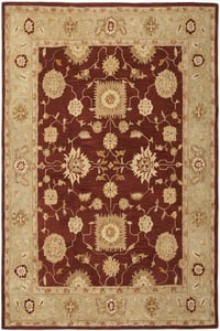 Red, Sage (F) Anatolia AN-556 Traditional / Oriental Area Rugs
