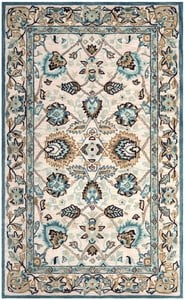 Peacock, Blue (B) Antiquity AT-812 Traditional / Oriental Area Rugs