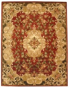 Rust, Green (A) Classic II CL-234 Traditional / Oriental Area Rugs