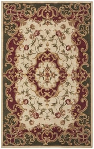Ivory, Green (C) Classic II CL-234 Traditional / Oriental Area Rugs