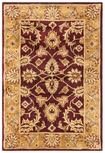 Burgundy, Gold (A) Classic II CL-244 Traditional / Oriental Area Rugs