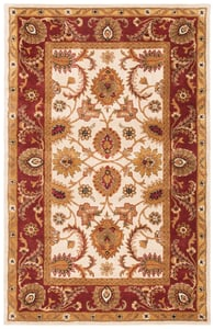 Ivory, Red (D) Classic II CL-244 Traditional / Oriental Area Rugs