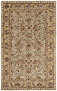 Light Green, Gold (A) Classic II CL-324 Traditional / Oriental Area Rugs