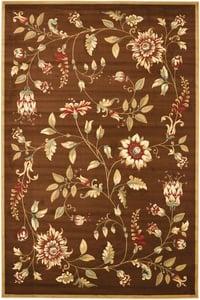 Brown (2591) Lyndhurst LNH-552 Floral / Botanical Area Rugs