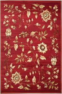 Red (4091) Lyndhurst LNH-552 Floral / Botanical Area Rugs