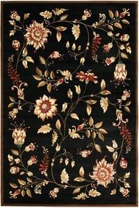 Black (9091) Lyndhurst LNH-552 Floral / Botanical Area Rugs