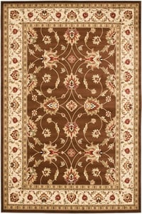 Brown, Ivory (2512) Lyndhurst LNH-553 Traditional / Oriental Area Rugs