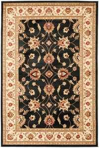 Black, Ivory (9012) Lyndhurst LNH-553 Traditional / Oriental Area Rugs