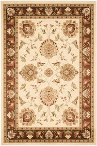 Ivory, Brown (1225) Lyndhurst LNH-555 Traditional / Oriental Area Rugs