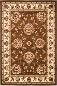 Brown, Ivory (2512) Lyndhurst LNH-555 Traditional / Oriental Area Rugs