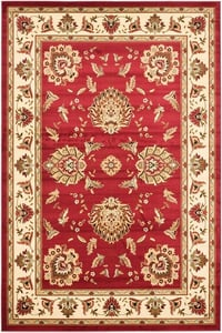 Red, Ivory (4012) Lyndhurst LNH-555 Traditional / Oriental Area Rugs