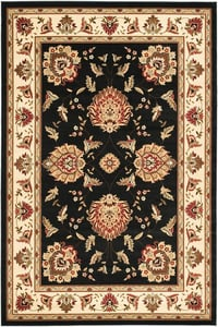 Black, Ivory (9012) Lyndhurst LNH-555 Traditional / Oriental Area Rugs