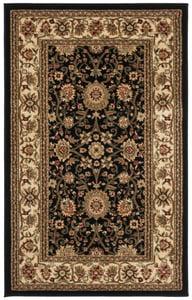 Black, Creme (A) Lyndhurst LNH-212 Traditional / Oriental Area Rugs
