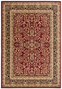 Red, Black (A) Lyndhurst LNH-214 Traditional / Oriental Area Rugs
