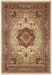 Ivory, Red (A) Lyndhurst LNH-330 Traditional / Oriental Area Rugs