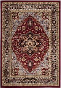 Red, Black (B) Lyndhurst LNH-330 Traditional / Oriental Area Rugs