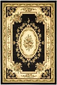 Black, Ivory (A) Lyndhurst LNH-218 Traditional / Oriental Area Rugs