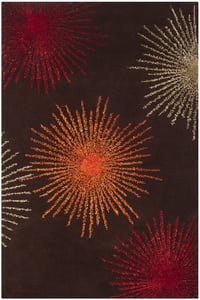 Brown, Red (B) Soho II SOH-712 Contemporary / Modern Area Rugs