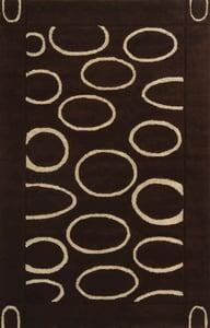 Brown, Ivory (C) Soho II SOH-714 Contemporary / Modern Area Rugs
