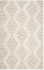 Ivory, Silver (A) Blossom BLM-111 Contemporary / Modern Area Rugs
