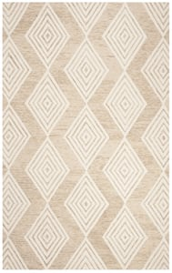 Beige, Ivory (B) Blossom BLM-111 Contemporary / Modern Area Rugs