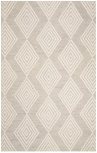 Silver, Ivory (G) Blossom BLM-111 Contemporary / Modern Area Rugs