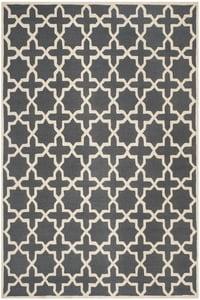 Dark Grey, Ivory (X) Cambridge CAM-125 Contemporary / Modern Area Rugs