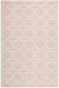 Light Pink, Ivory (M) Cambridge CAM-125 Contemporary / Modern Area Rugs