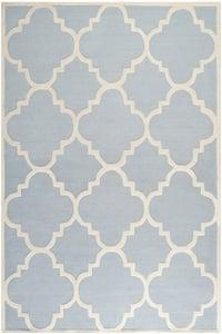 Light Blue, Ivory (A) Cambridge CAM-140 Contemporary / Modern Area Rugs