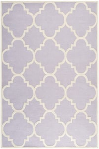 Lavender, Ivory (C) Cambridge CAM-140 Contemporary / Modern Area Rugs