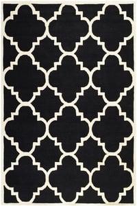 Black, Ivory (E) Cambridge CAM-140 Contemporary / Modern Area Rugs