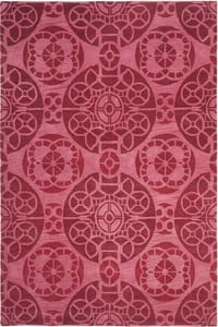 Red (C) Wyndham WYD-376 Contemporary / Modern Area Rugs