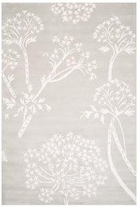 Grey, Ivory (B) Bella BEL-131 Floral / Botanical Area Rugs